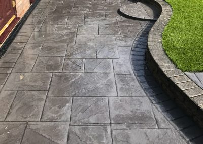 Pattern Imprinted Concrete Patio 18d